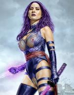 areolae armando_huerta breasts high_resolution large_breasts leather magic marvel olivia_munn psylocke purple_eyes purple_hair see-through sword tight_clothing vagina vagina_peek weapon x-men // 1200x1540 // 234.7KB