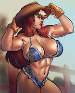 1girls abs big_breasts breasts cleavage female female_only large_breasts marvel muscles muscular muscular_female ph rogue solo x-men // 1420x1752 // 304.8KB