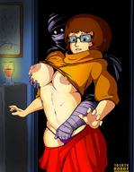 big_nipples breasts glasses hand_in_panties hand_on_breast large_breasts red_skirt scooby-doo skirt thong velma_dinkley // 930x1200 // 185.2KB